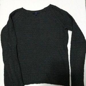 Women's knit dark green sweater